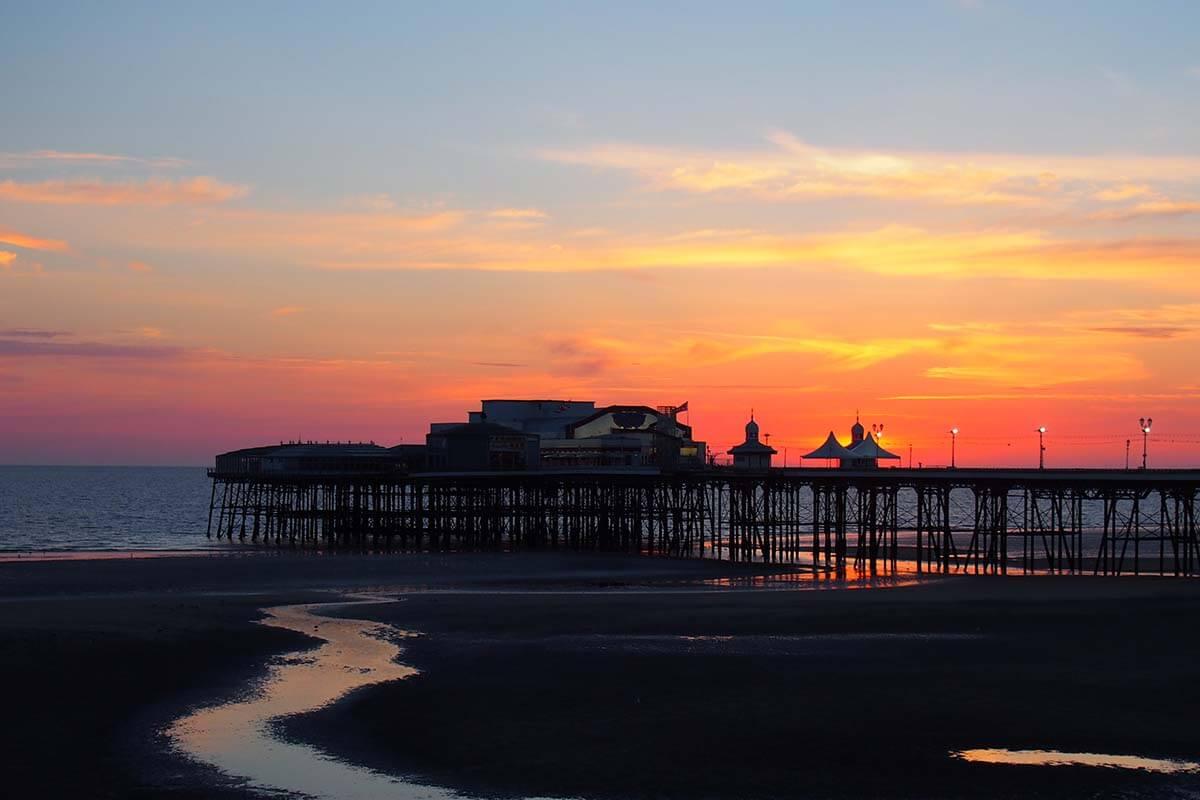 Blackpool North Pier at sunset