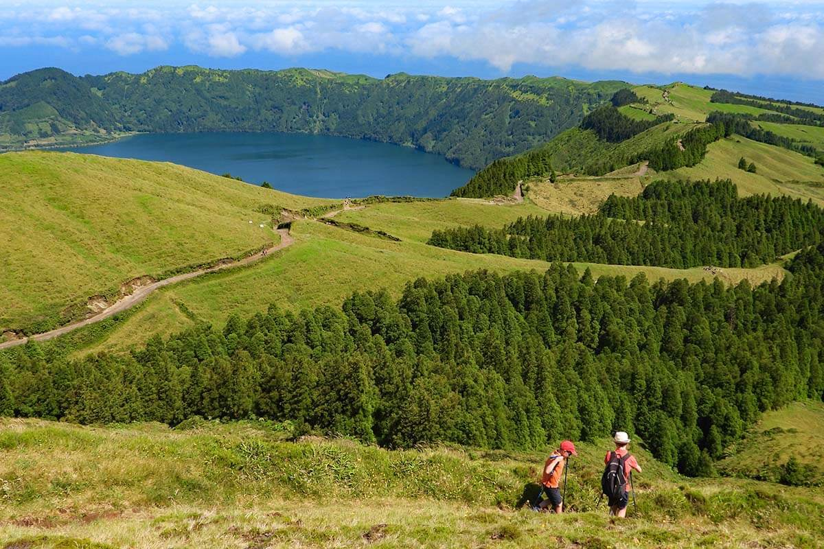 Hiking at Sete Cidades in the Azores