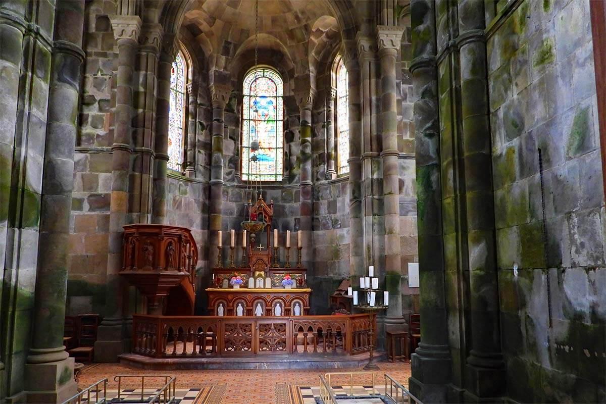 Interior of Capela de Nossa Senhora das Vitorias in Furnas