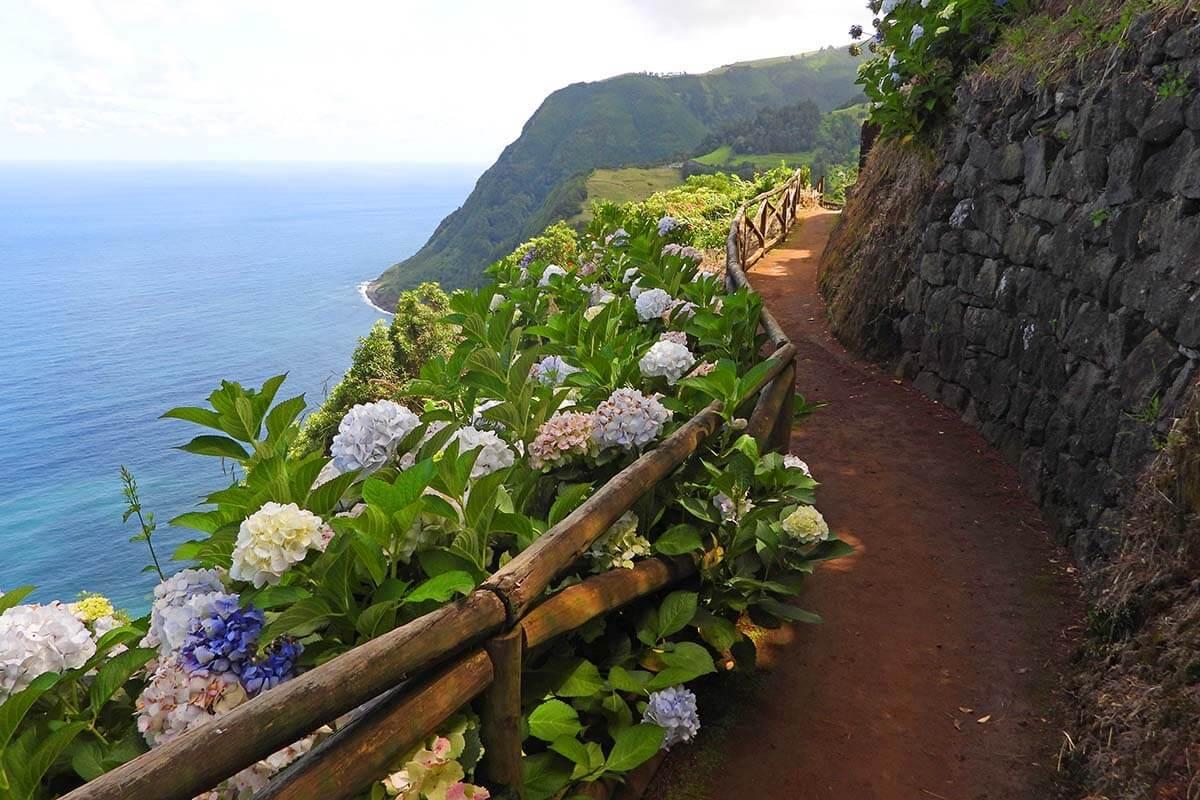 Miradouro da Ponta do Sossego on the east coast of Sao Miguel island in the Azores