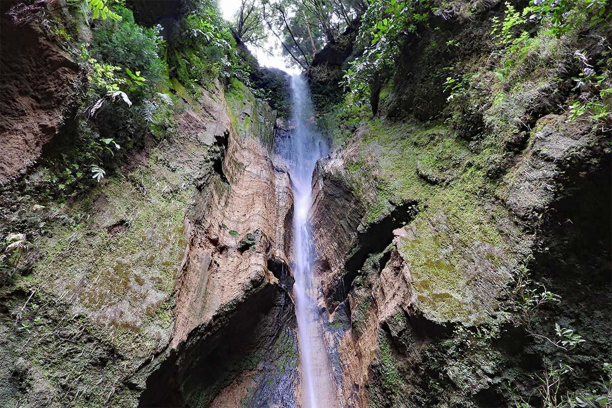 Salto do Rosal waterfall in Furnas