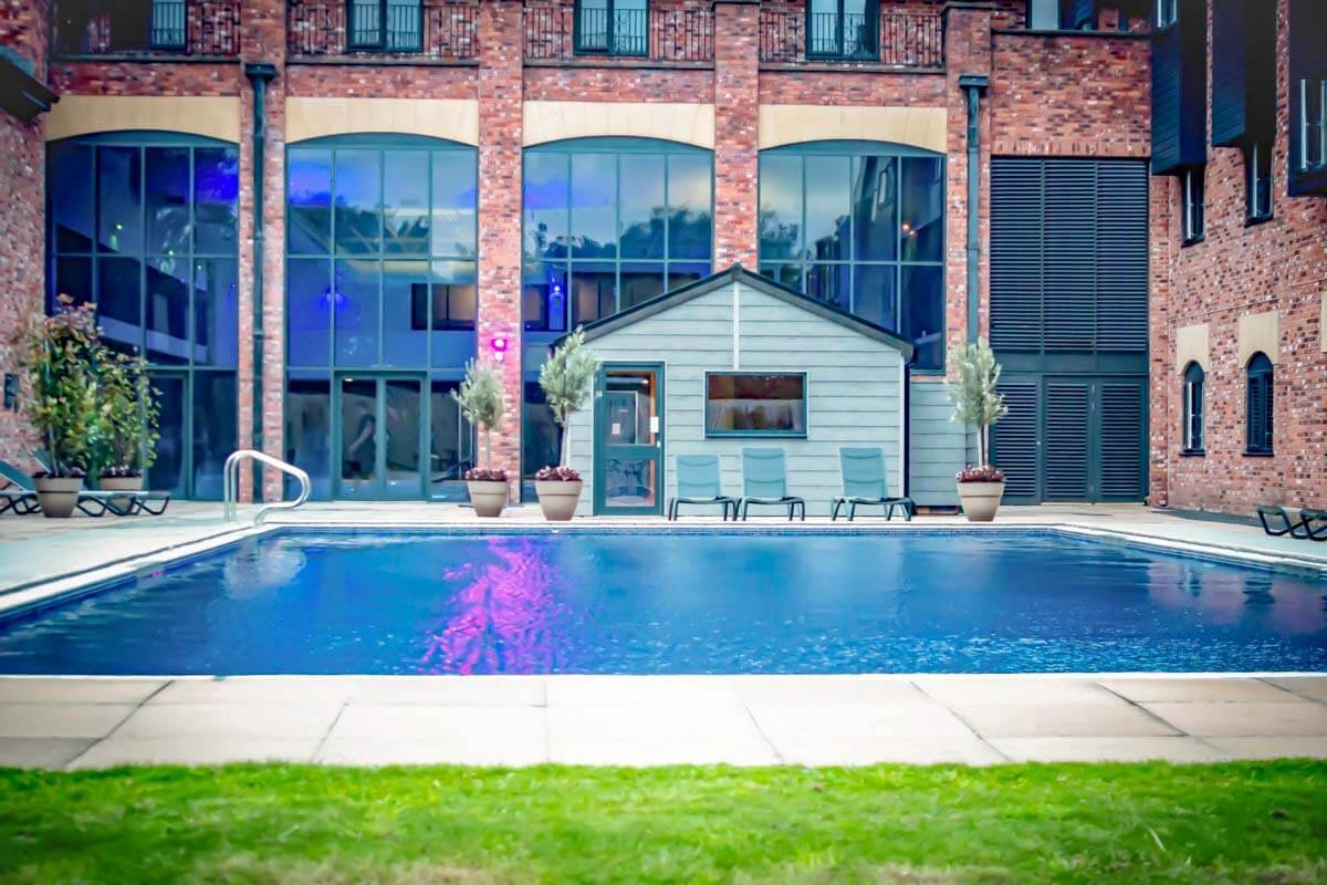 Outdoor pool at the Village Hotel Blackpool