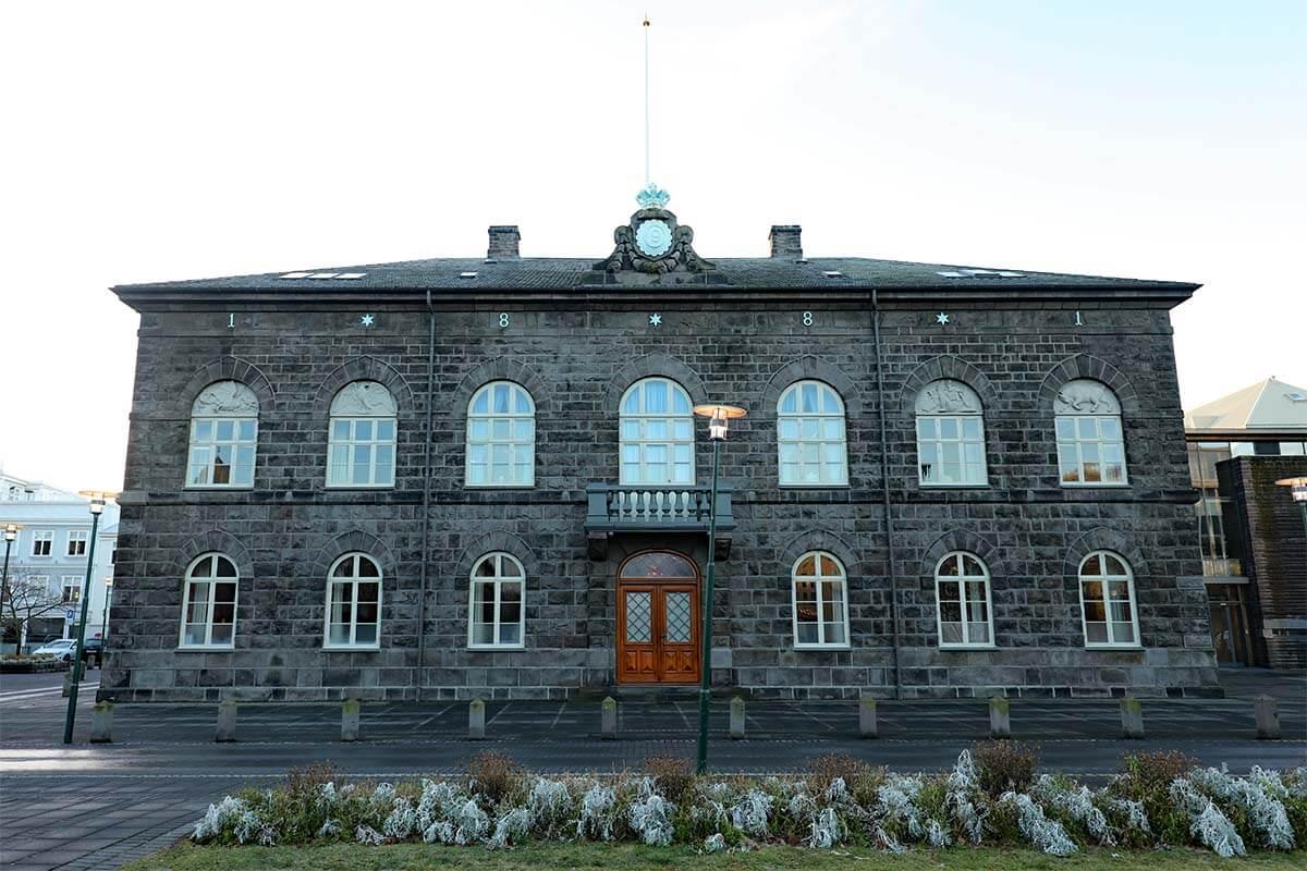 Althingi Parliament House in Reykjavik Iceland