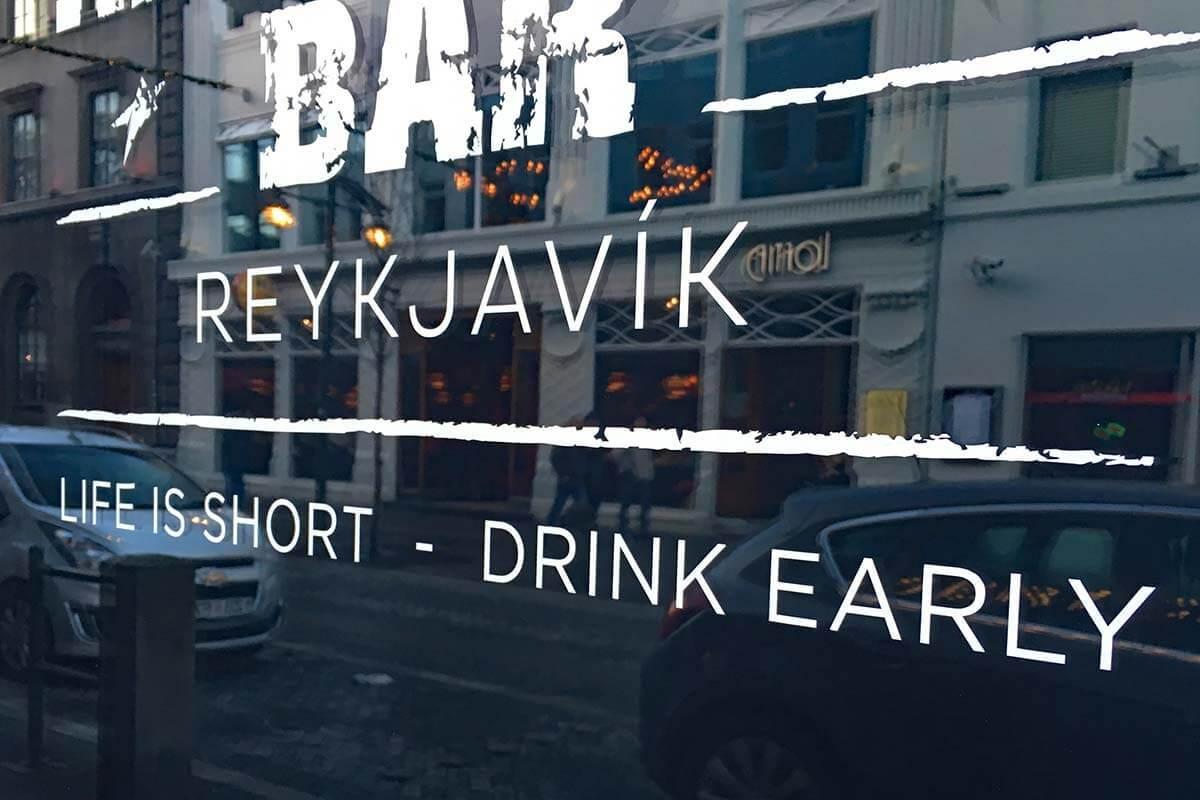 Bar in Reykjavik Iceland