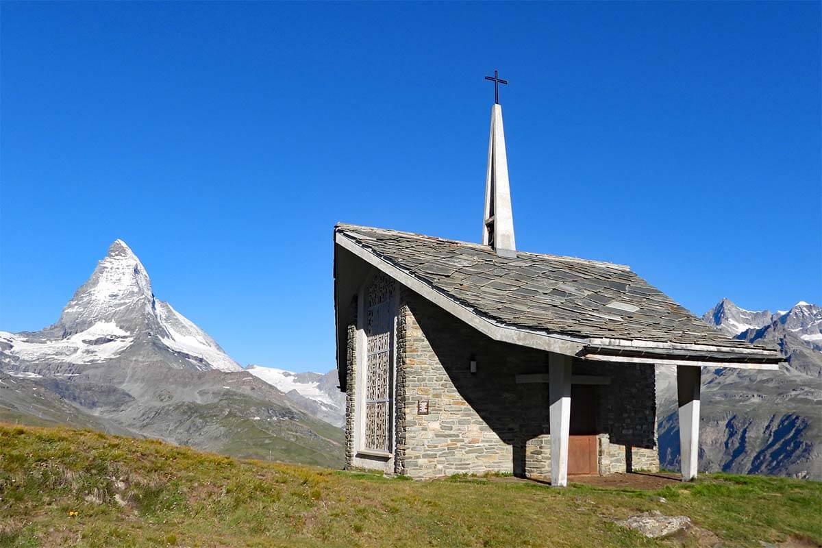 Bruder Klaus chapeland the Matterhorn - Riffelberg, Zermatt