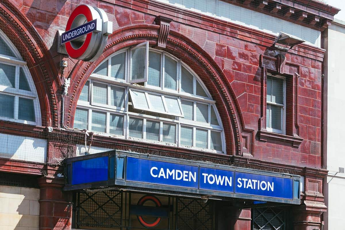 Camden Town Station in London