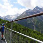 Charles Kuonen Suspension Bridge hike from Randa near Zermatt in Switzerland