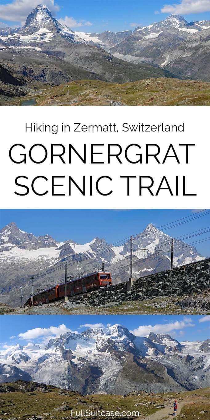 Complete guide to hiking Gornergrat Scenic Trail from Gornergrat to Rotenboden in Zermatt, Switzerland