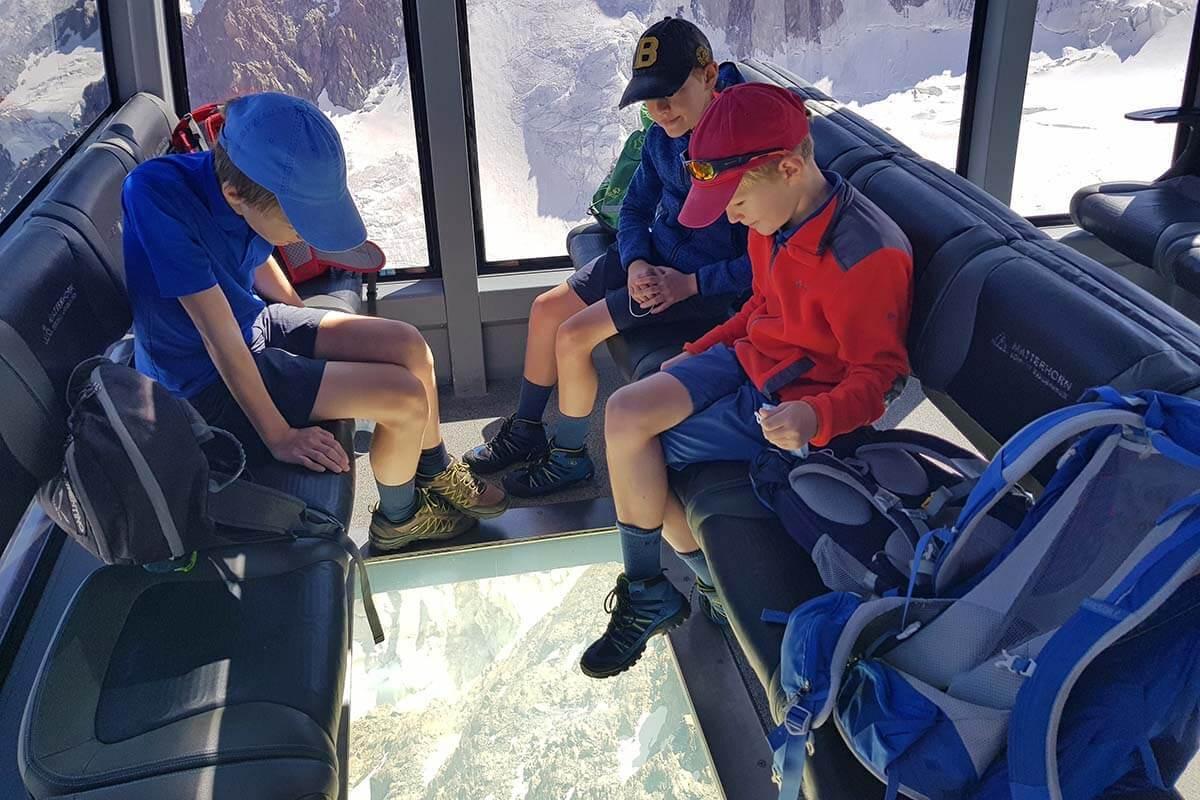 Crystal Ride on the gondola to Matterhorn Glacier Paradise