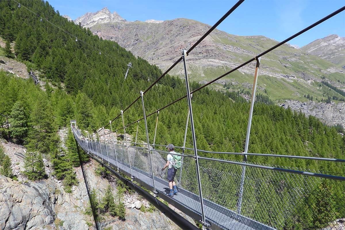 Furi suspension bridge is a nice place to see near Zermatt