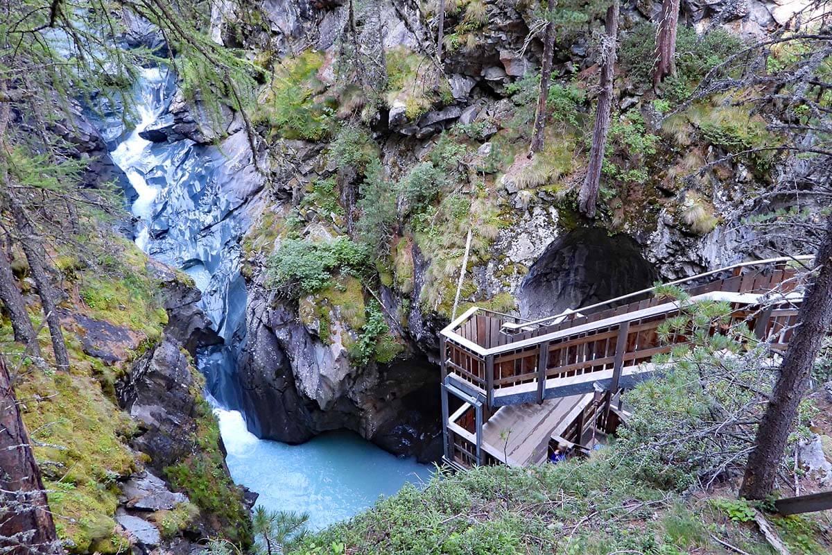 Gorner Gorge in Zermatt Switzerland