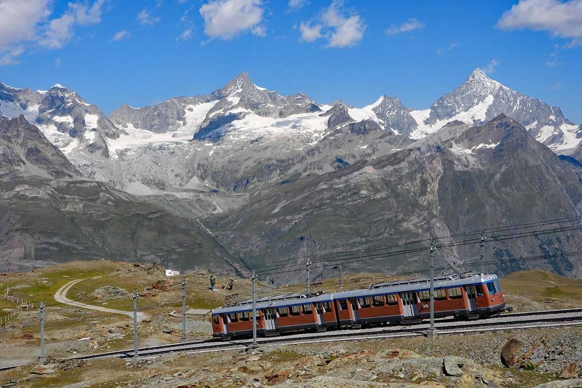 Gornergrat Railway - one of the must do things in Zermatt Switzerland