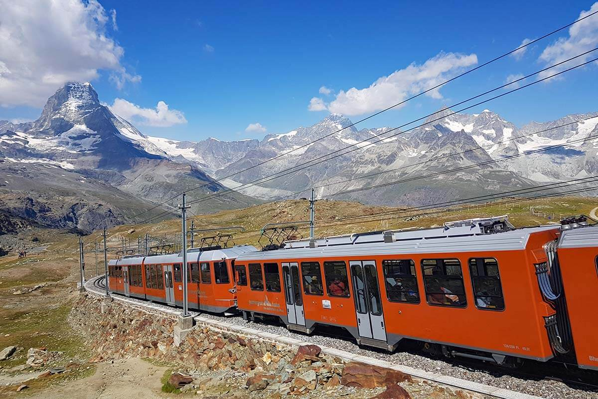Gornergrat Railway - one of the top things to do in Zermatt Switzerland