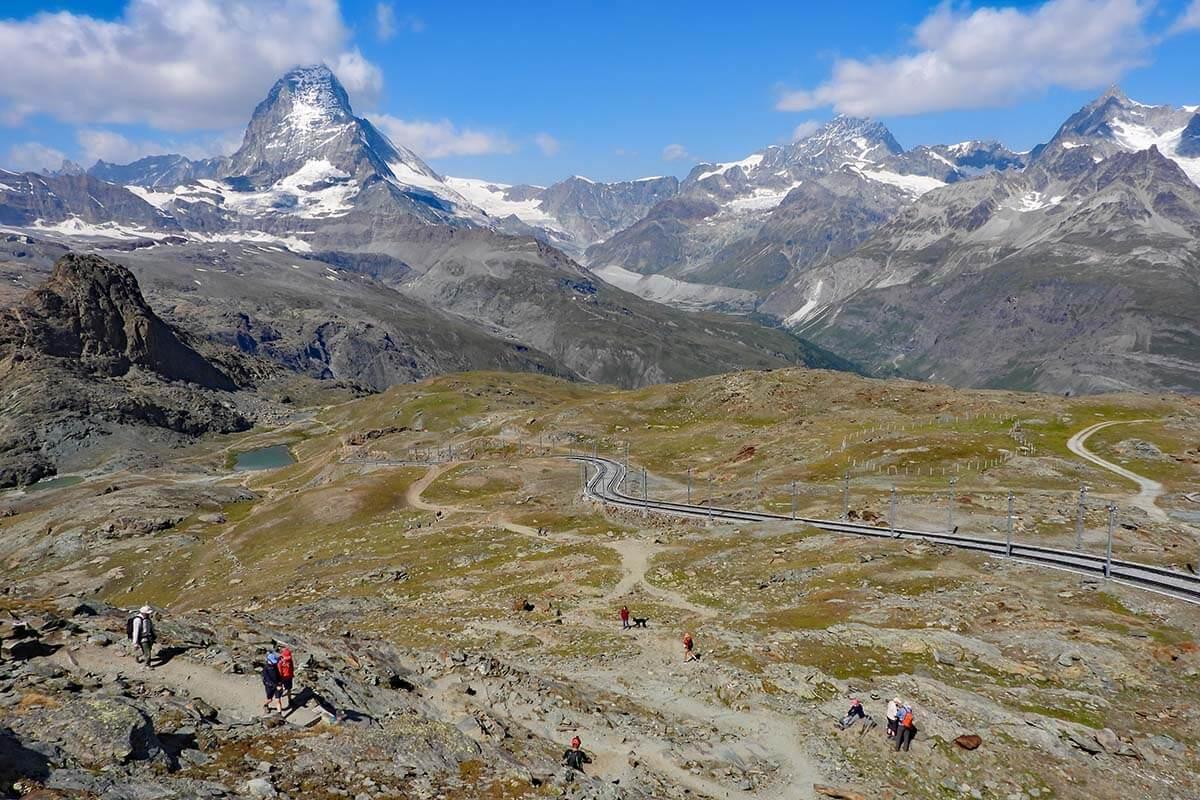Gornergrat hike nr. 15 - Scenic Trail (Aussichtsweg)