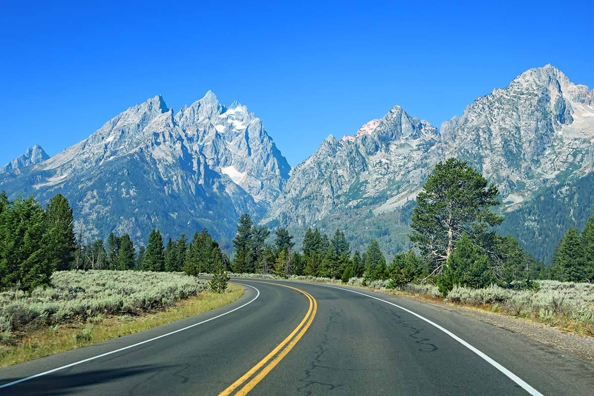 Grand Teton National Park road