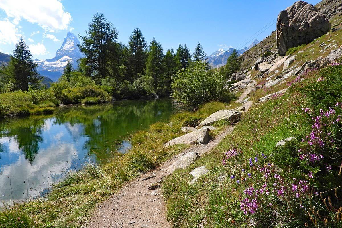 Grindjisee lake in Zermatt