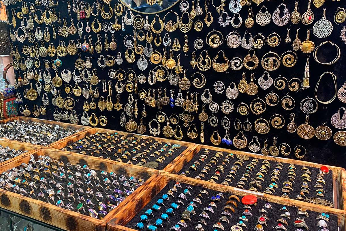 Handmade jewellery for sale at Camden Market in London