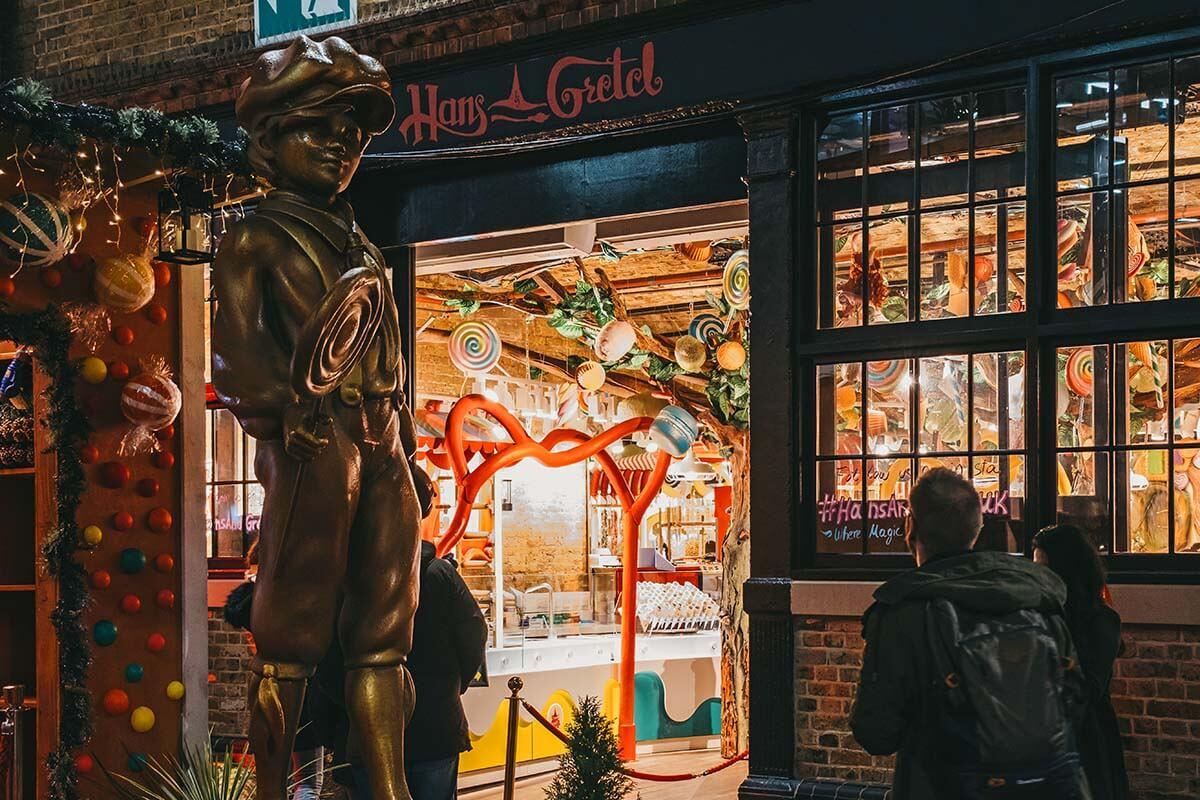 Hans & Gretel shop in Camden Market London
