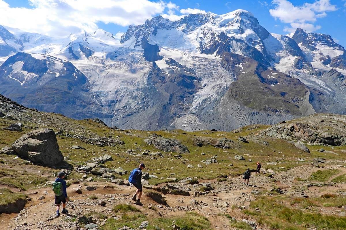 Hiking Gornergrat Scenic Trail with kids