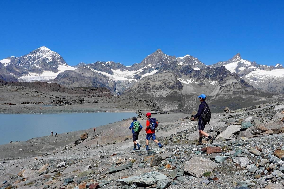 Hiking Matterhorn Glacier Trail is one of the best things to do in Zermatt Switzerland