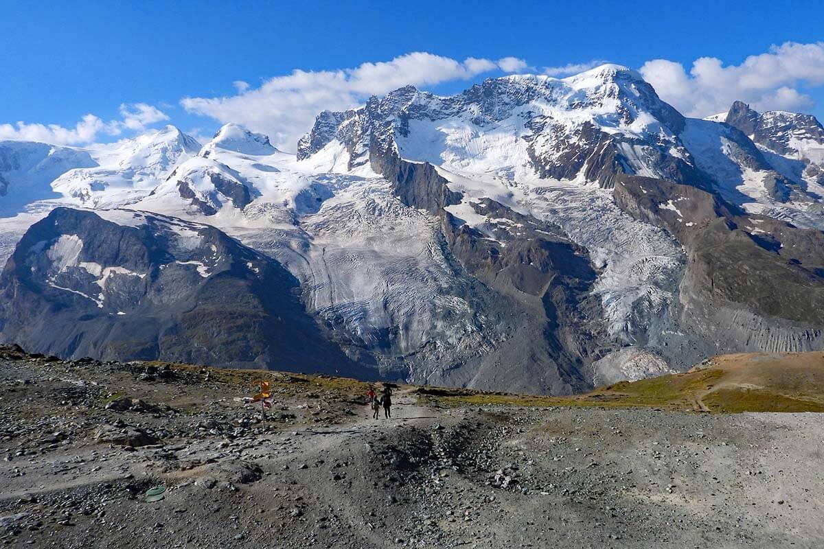 Hiking at Gornergrat in Zermatt