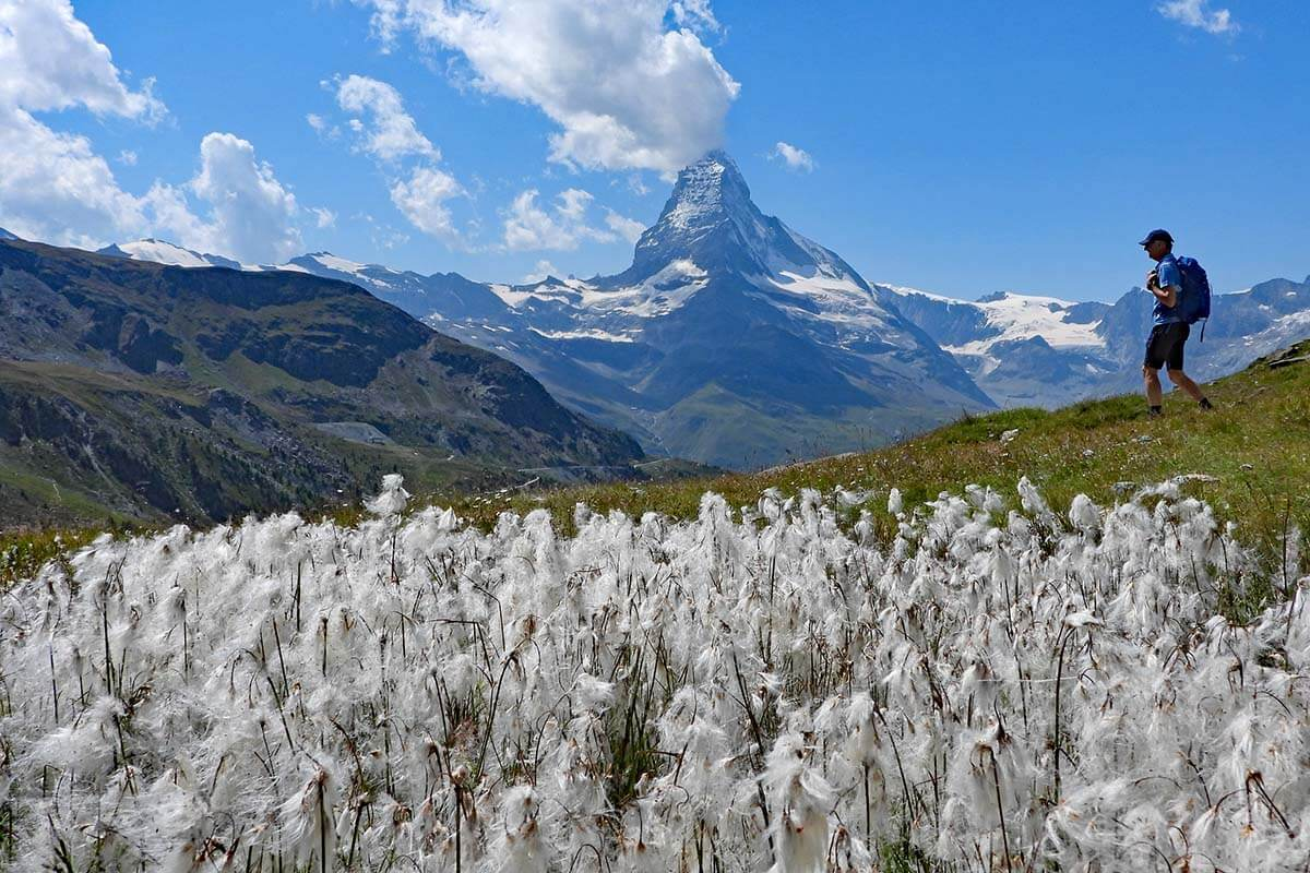 Hiking the 5 lakes trail in Zermatt Switzerland