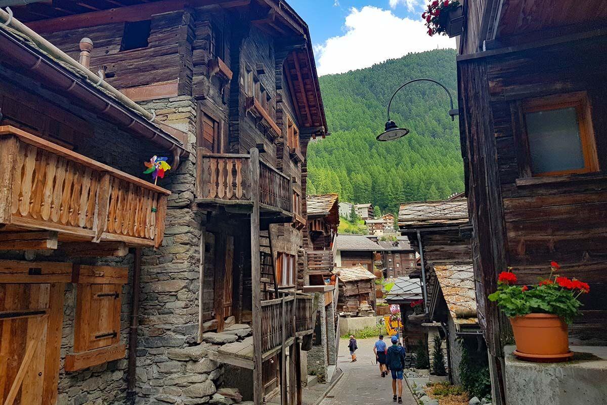 Hinterdorfstrasse - Old Village is must see in Zermatt