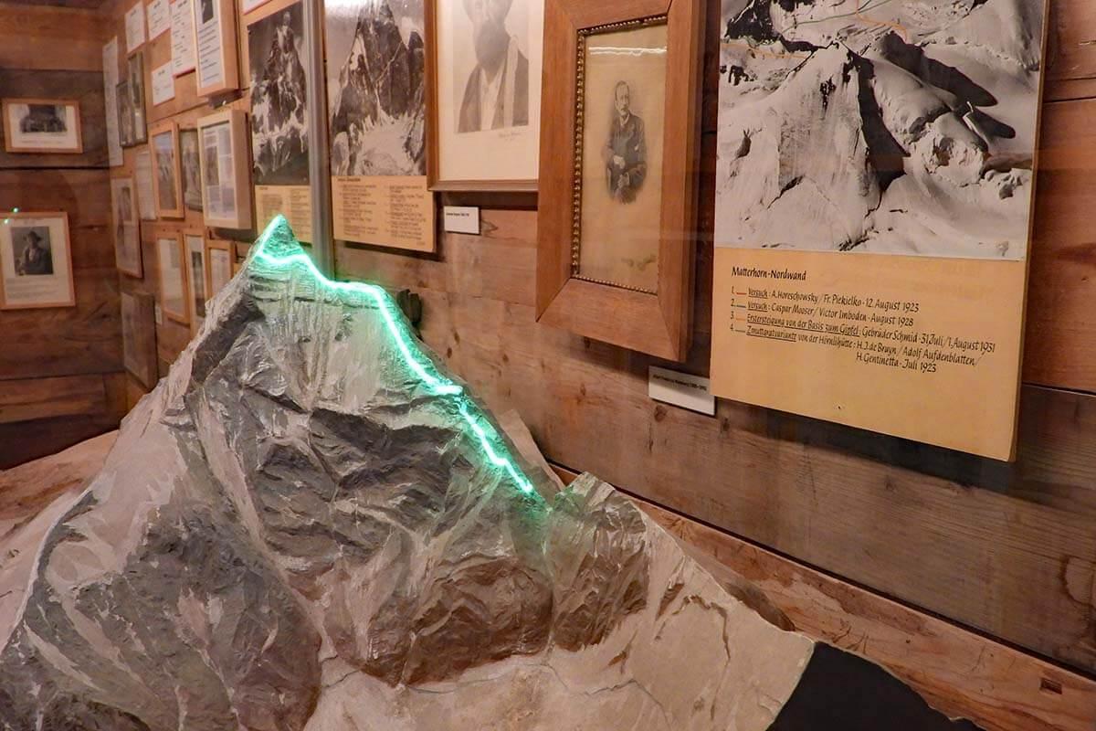 Interactive display at the Matterhorn Museum in Zermatt