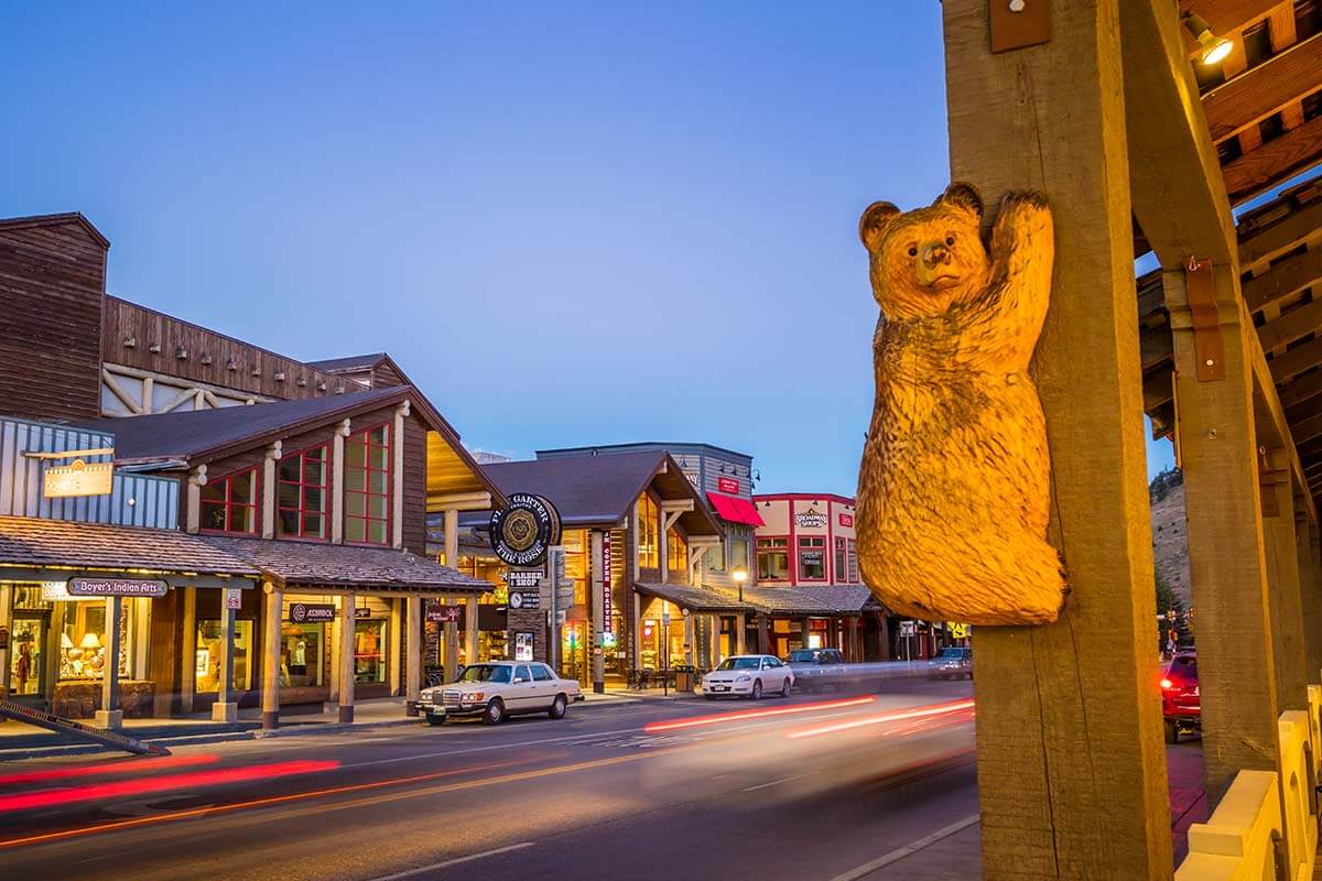 Jackson WY - one of the biggest towns to stay near Yellowstone and Grand Teton