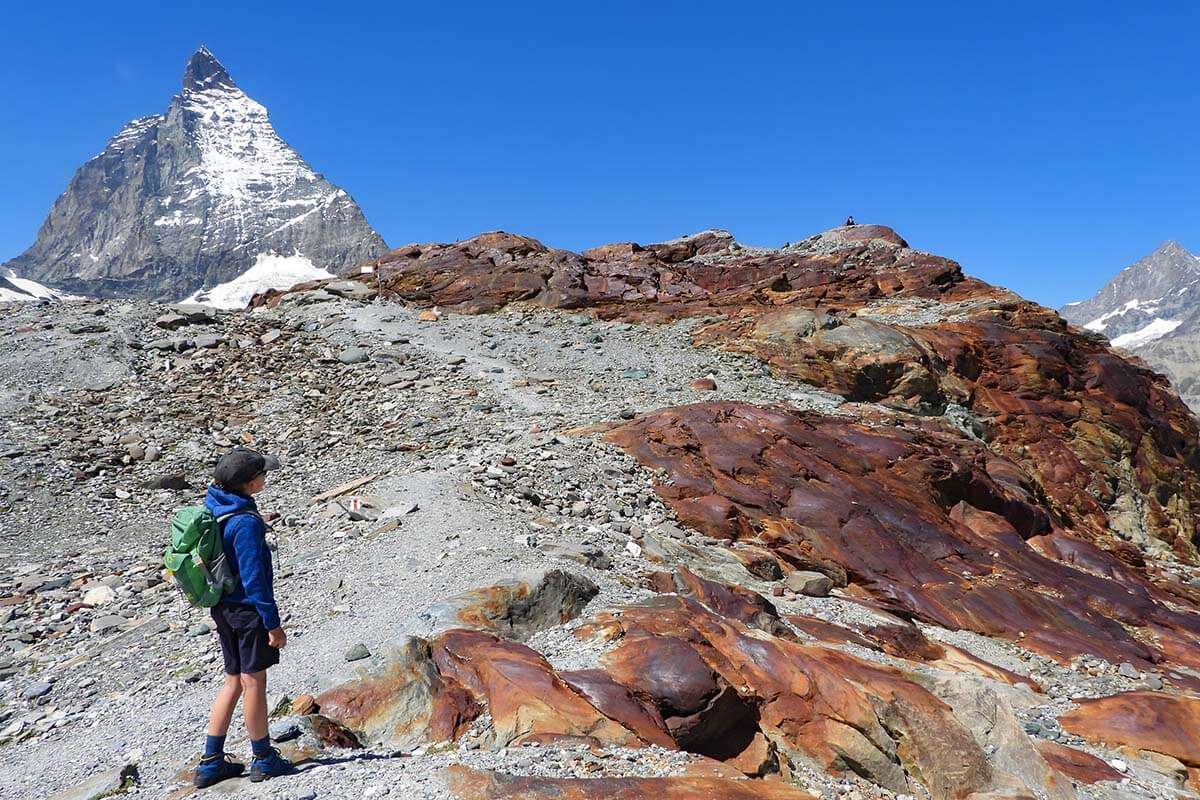 Matterhorn Glacier Trail in Zermatt Switzerland