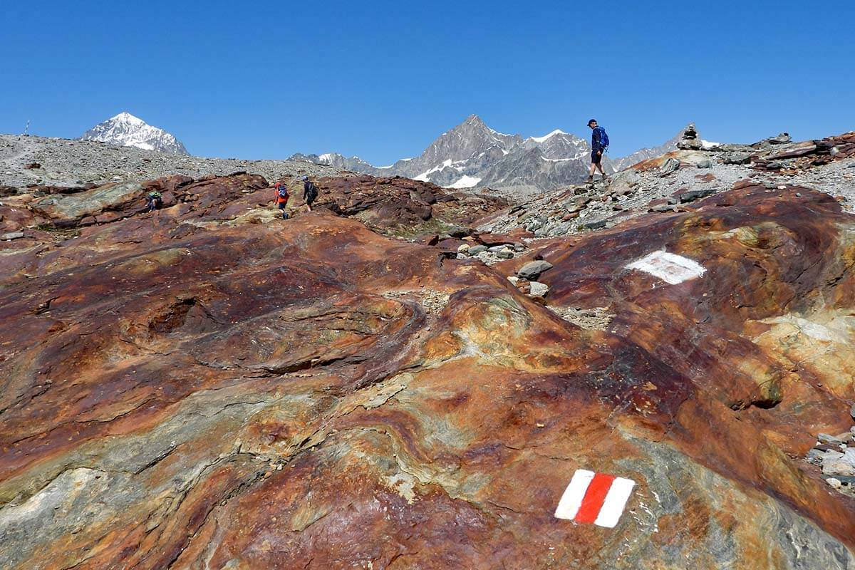 Matterhorn Glacier Trail is one of the most interesting places to see near Zermatt in Switzerland