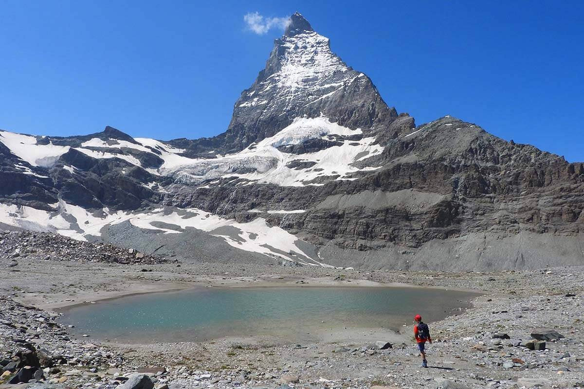 Matterhorn mountain is the main landmark in Zermatt
