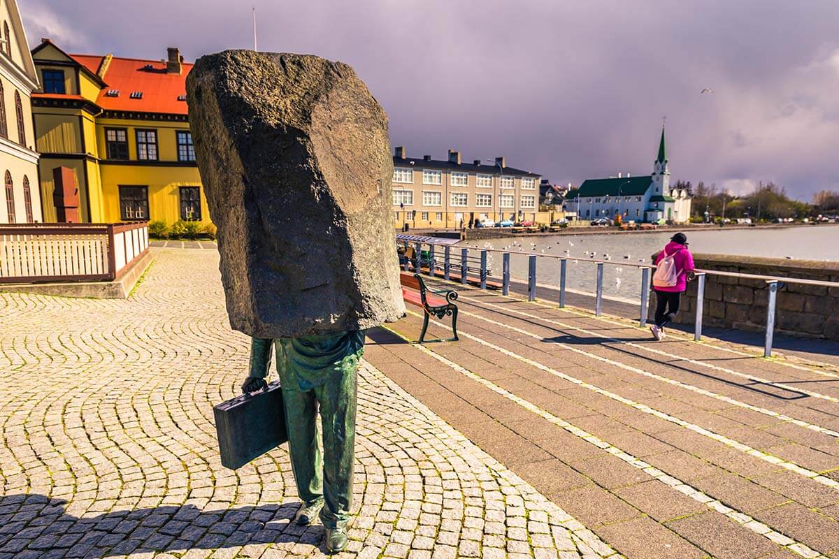 Monument to the Unknown Bureaucrat in Reykjavik