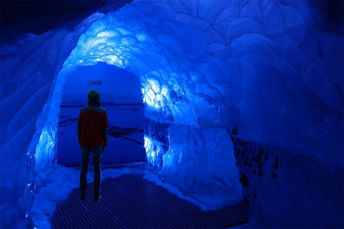 Perlan ice tunnel is one of the coolest things to do in Reykjavik