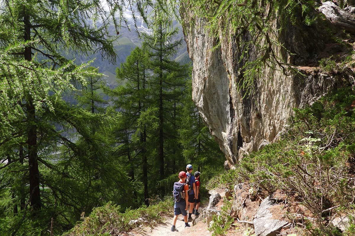 Randa suspension bridge hike near Zermatt