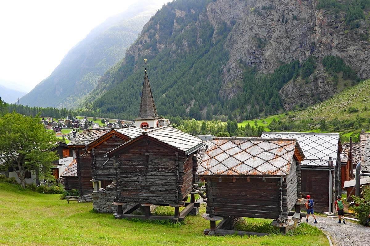 Randa village near Zermatt in Switzerland