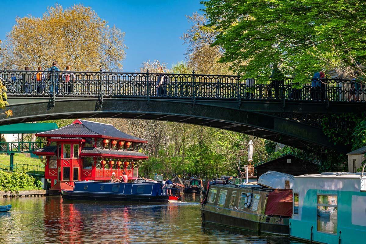 Regent's Canal in Camden Town London