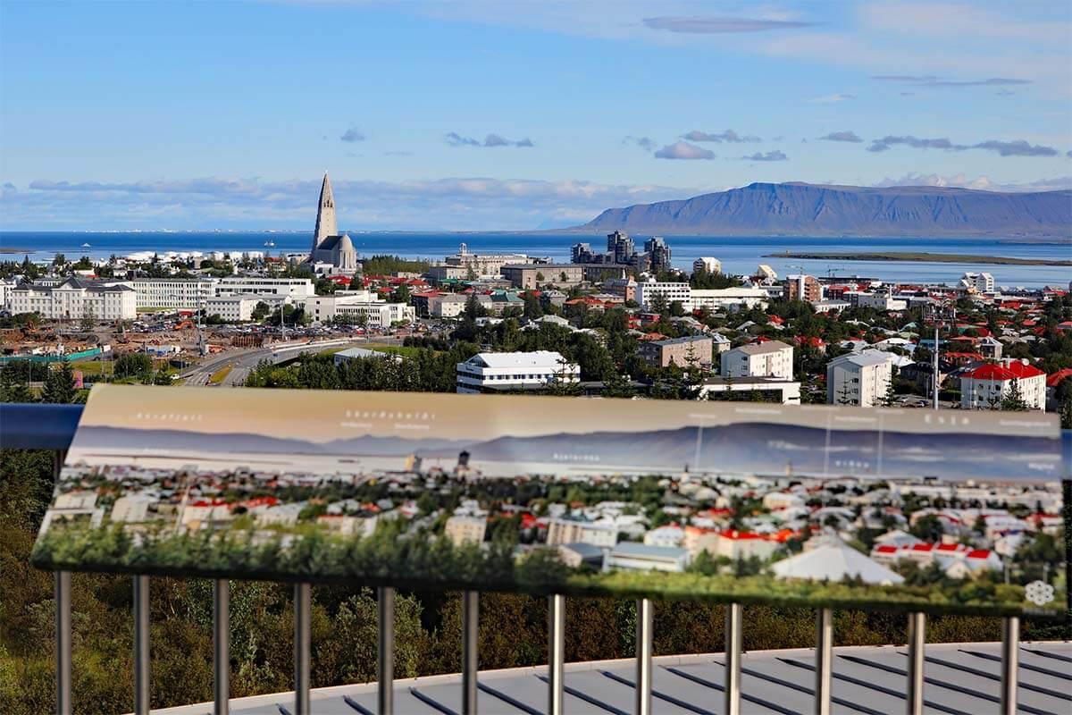 Reykjavik city view from Perlan Observation Deck