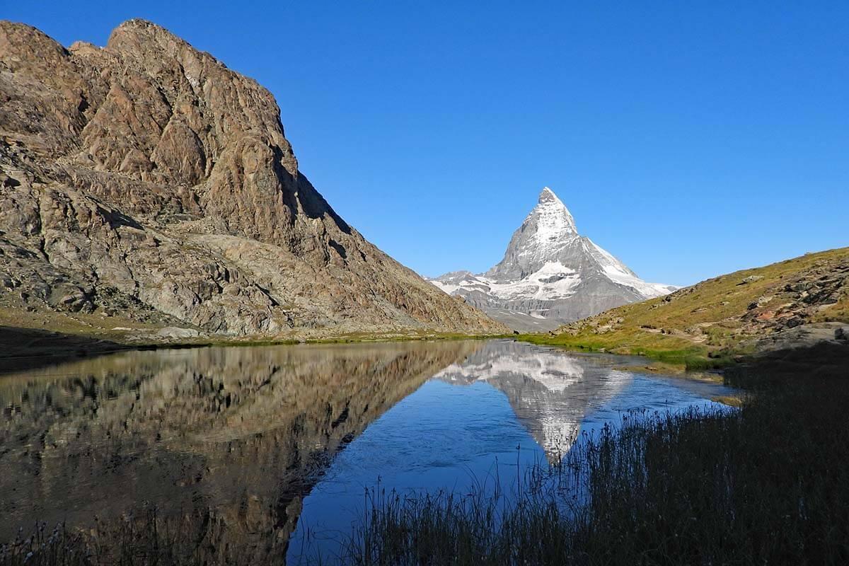 Riffelsee lake with Matterhorn reflections