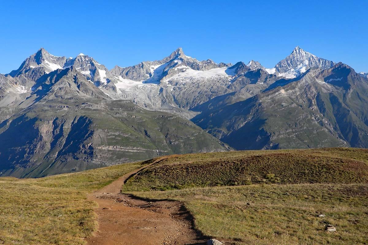 Riffelseeweg hike 21 from Rotenboden to Riffelberg in Zermatt Switzerland