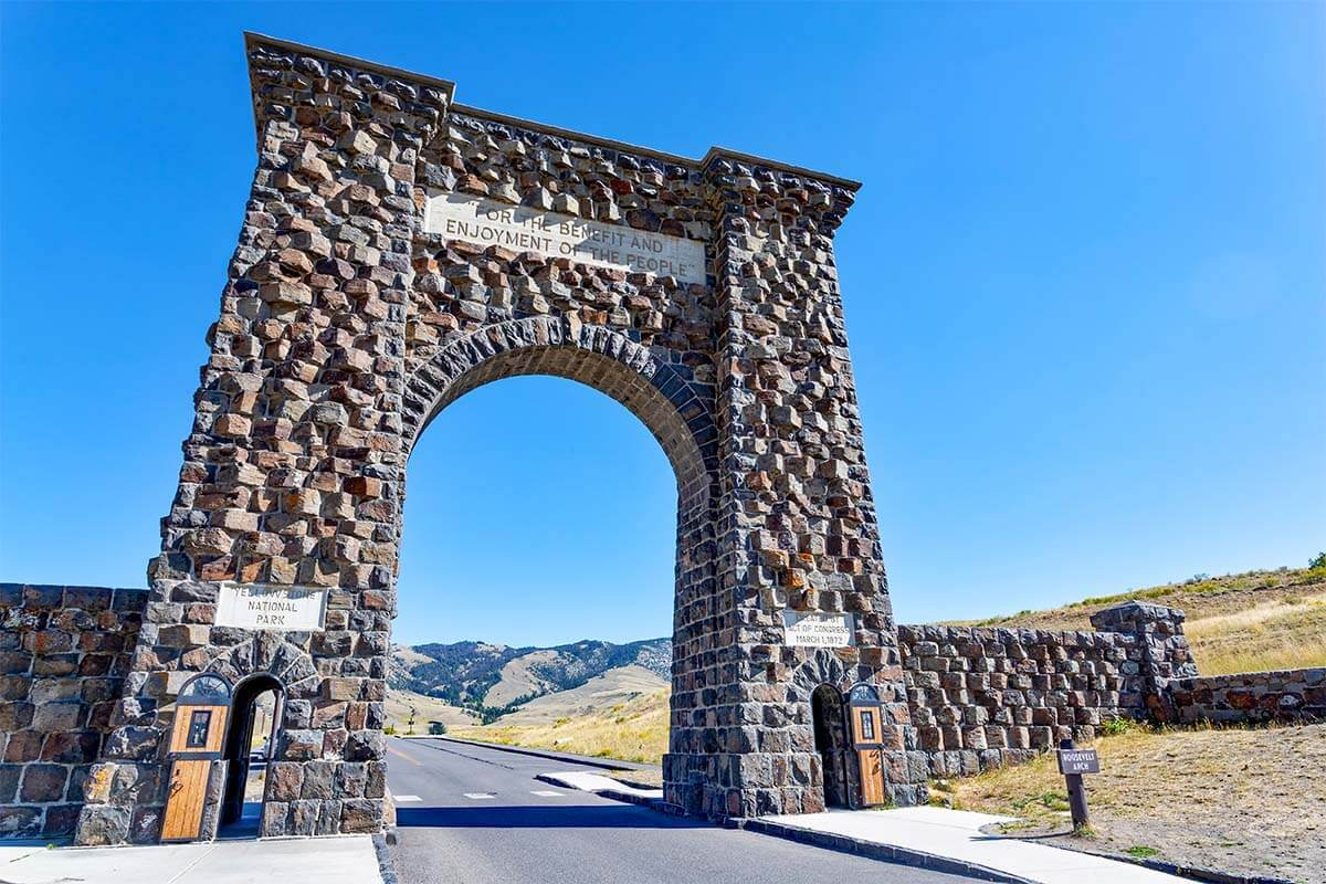 Roosevelt Arch at Yellowstone North Entrance near Gardiner MT