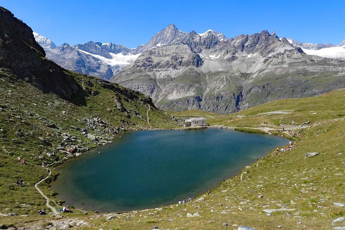 Schwarzsee mountain lake in Zermatt Switzerland