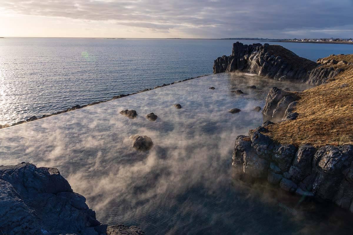Sky Lagoon geothermal pool in Iceland