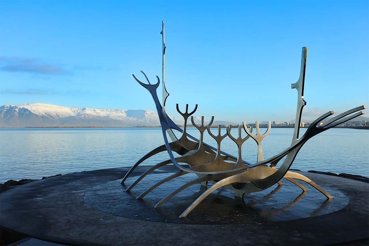 Sun Voyager (Solfar) is one of the most famous Reykjavik landmarks