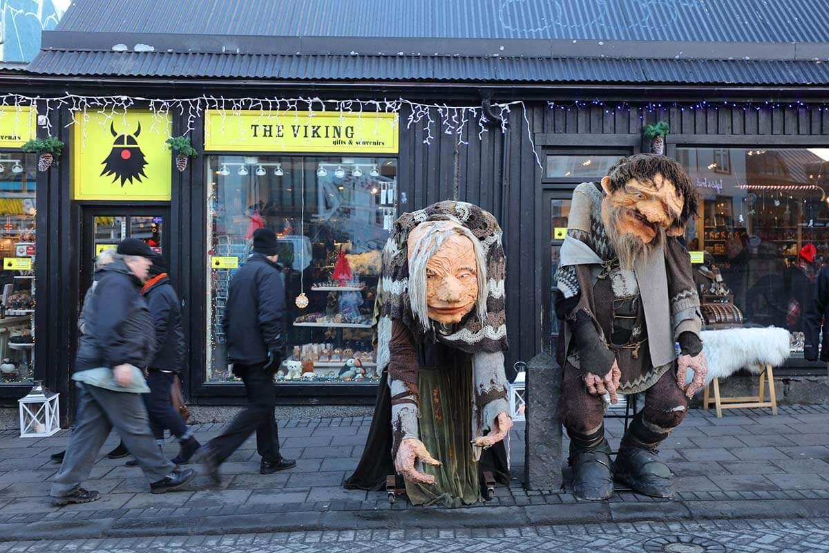 The VIKING souvenir shop on Laugavegur street in Reykjavik city center