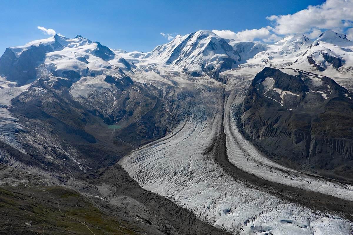 Top places to see in Zermatt - Gorner Glacier at Gornergrat