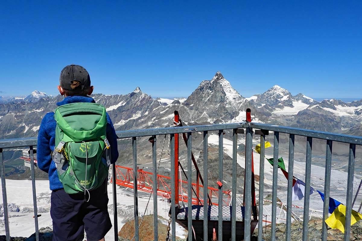 Views from Klein Matterhorn, Matterhorn Glacier Paradise in Zermatt Switzerland