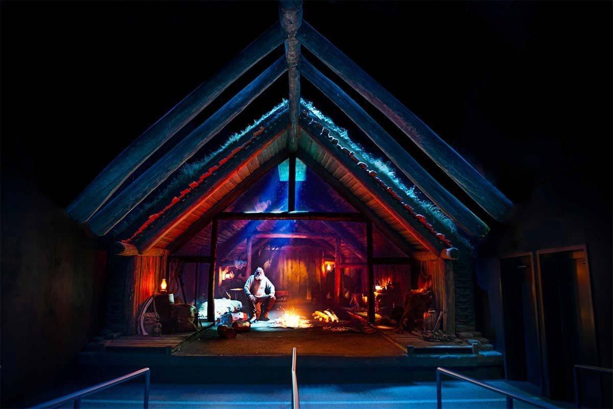 Viking Longhouse pre-show at FlyOverIceland in Reykjavik