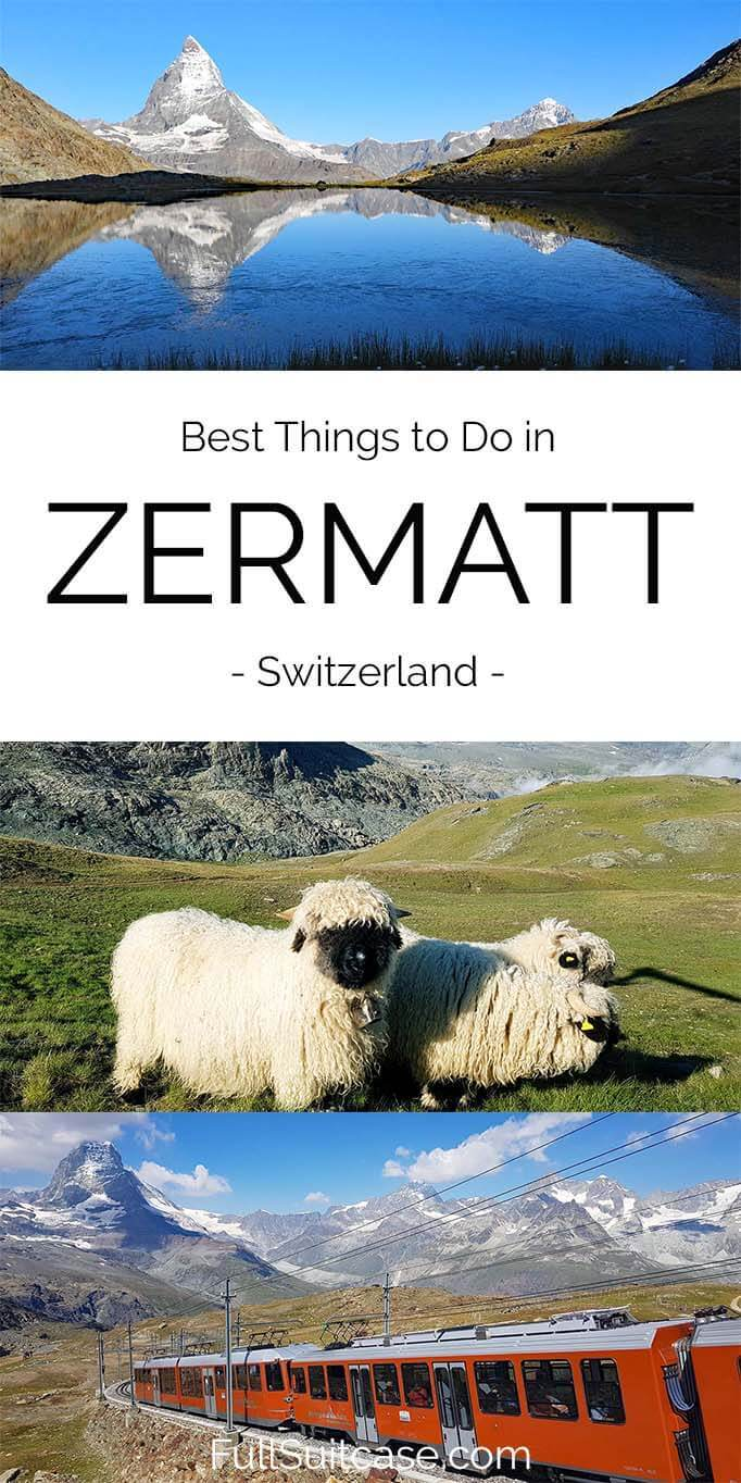 What to see and do in Zermatt Switzerland - complete guide with the best sights, hikes, and activities