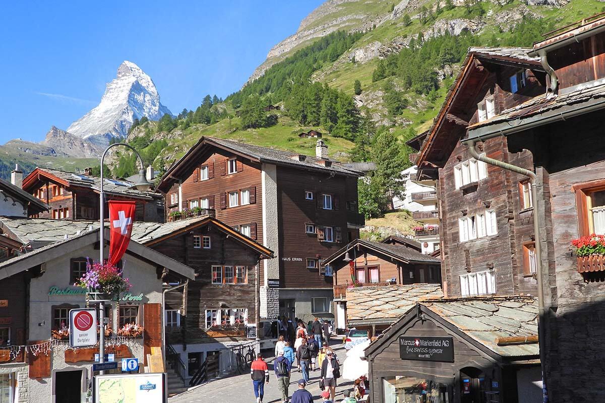 Zermatt town and the Matterhorn